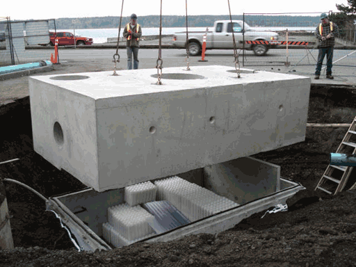 Stormwater Processing Concrete Vaults