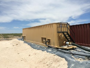 Frac Tank unit in operation