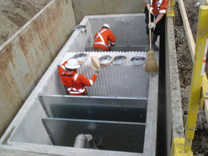 Below Ground Coalescing Plate Separators for Oil Water Separation